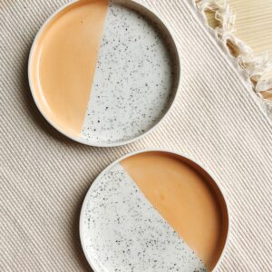 Melon Speckled Plate   10 cm