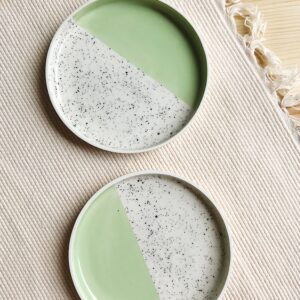 Mint Speckled Plate   10 cm