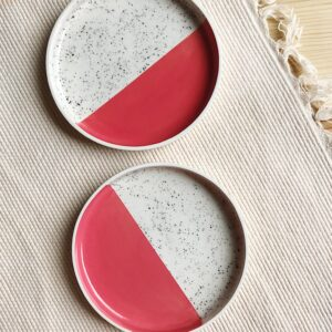 Pink Speckled PLate   10 cm