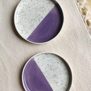 Purple Speckled Plate   10 cm